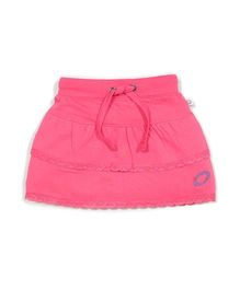 Solittle Layered Skirt With Embroidered Detail - Pink