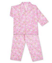 KID1 Sweet Panda Print Shirt & Pajama Set - Pink