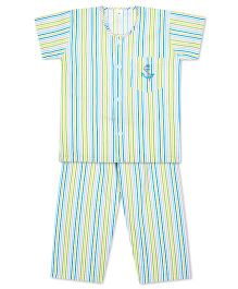 KID1 Little Sailor Night Suit - Blue & Multicolour