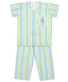 KID1 Little Sailor Night Suit - Blue & Multicolour