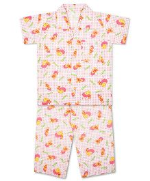 KID1 Buzzing Bees Night Suit - Pink