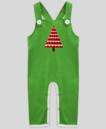 Mistletoe Dungaree Half Moon Tree Print - Green