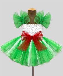 Mistletoe Celebration Tutu Dress - White & Green