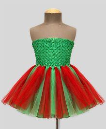 Mistletoe Tube Tutu Dress - Green & Red