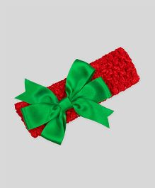 Mistletoe Holiday Crochet Headband - Red & Green