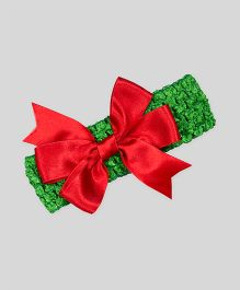 Mistletoe Holiday Crochet Headband - Red