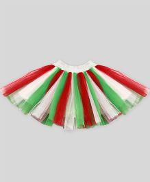 Mistletoe Holiday Tutu Skirt - Red Green & White