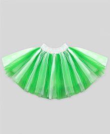 Mistletoe Holiday Tutu Skirt - White & Green