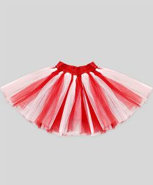 Mistletoe Holiday Tutu Skirt - Red & White