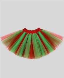 Mistletoe Holiday Tutu Skirt - Green & Red