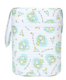 Double Bottle Warmer Bear And Moon Print - White
