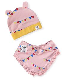 Pinehill Cap And Bib Set - Light Peach