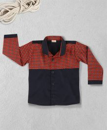 Knotty Kids Printed Full Sleeve Shirt - Blue