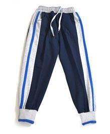 LOL Full Length Fleece Track Pants - Blue Grey