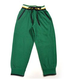 LOL Full Length Dots Print Track Pants - Green