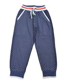 LOL Full Length Dots Print Track Pants - Navy