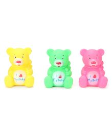 Ratnas Squeaky Bath Toys Bear Shape Pack Of 3 (Color May Vary)