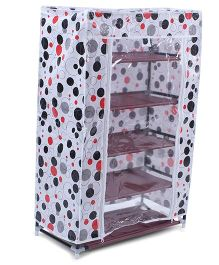 5 Shelves Storage Rack With Cover - White