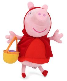 Peppa Pig Red Riding Hood Soft Toy Red - 26 cm