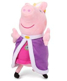 Peppa Pig Princess Soft Toy Purple - 27 cm