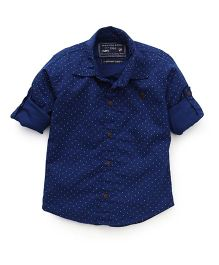 Jash Kids Full Sleeves Printed Shirt - Royal Blue
