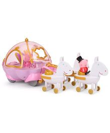 Princess Peppa Carriage With 2 Figures - Multicolor
