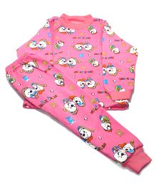 Tickles 4 U  Set With Cartoon Print - Pink