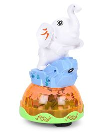 Smiles Creation Musical Elephant Toy With Projection - White