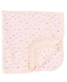 Zero Wrapper Kitten & Ballon Print - Cream