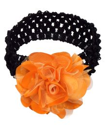 Miss Diva Elegant Flower Soft HeadBand - Orange & Black