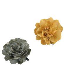 Miss Diva Single Flower Tic Tac Combo - Silver & Golden