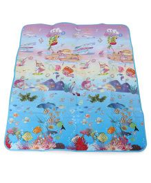 Baby Play Mat Animals And Fish Print - Multi Color
