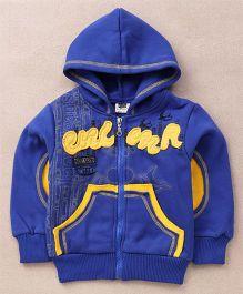 Superfie Stylish Hooded Zipper Jacket - Blue