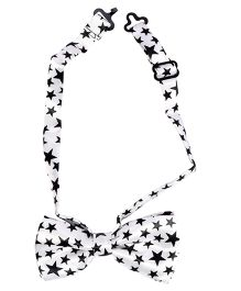 Miss Diva Super Stars Bow Tie - White & Black