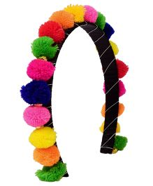 Miss Diva Pom Pom Hairband - Multicolor