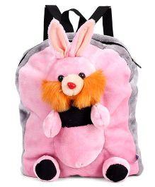 Tickles Shoulder Plush Bag Rabbit Applique Pink - Height 14 Inches