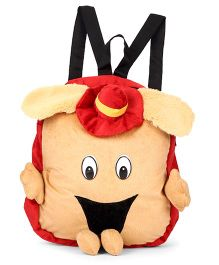 Tickles Shoulder Plush Bag Brown Red - Height 10 Inches