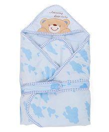 Sleeping Bag Bear Patch - Blue