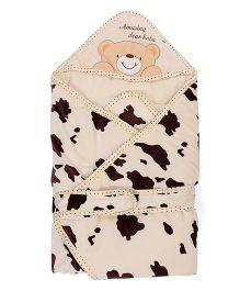 Sleeping Bag Bear Patch - Cream