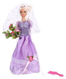 Tickles Pretty Bride Wedding Doll Purple - 28 cm