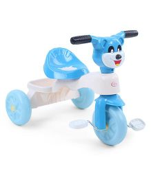 Musical Tricycle Animal Face Design - Blue