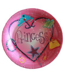 Shopaparty Princess Heart Plates - Pink