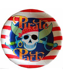 Shopaparty Pirate Print Plates - Red