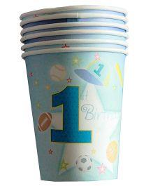 Shopaparty 1st Birthday Cups - Blue