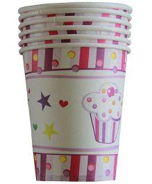 Shopaparty Cupcake Print Cups - Pink