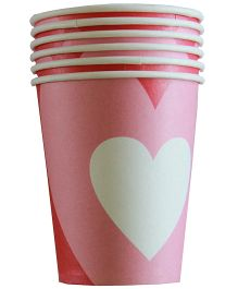 Shopaparty Heart Print Cups - Red & Pink