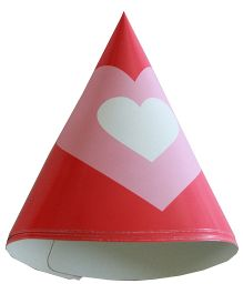 Shopaparty Heart Print Hat - Pink