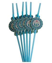 Shopaparty Cupcake Straws - Blue