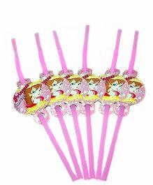 Shopaparty Princess Party Straws - Pink