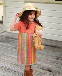 Dress My Angel Organic Hand Knitted Stripes Tunic - Pink